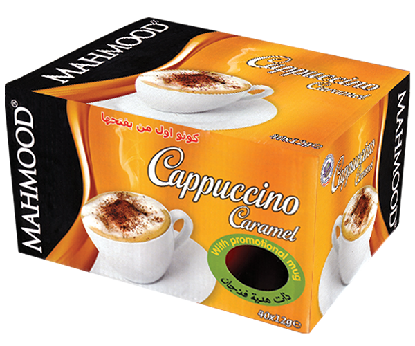 Caramel Flavored Cappuccino Mug Cup Gift Box of 40